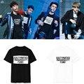 K pop KPOP EXO K M Álbum EX'ACT MCountdown T camisa K-POP 2016 Clássico Da Moda Roupas de Algodão T-shirts de Manga Curta DX322
