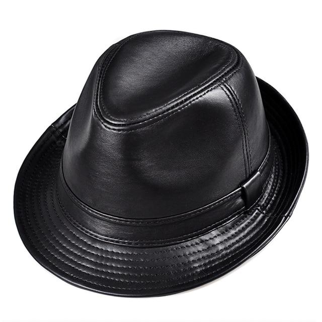Invierno Cuero auténtico ala ancha Stetson Sombreros de fieltro británico sombreros  para hombres mujeres gentman ccdd8e049019
