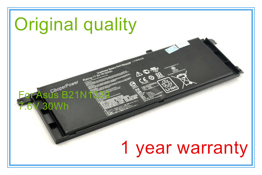 цены 7.6V 30WH New Original battery B21N1329 for X453 X553MA Replacement batteries Free shipping