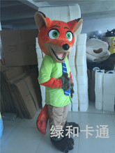 In 2016 new Zootopia Nick wilde clothing and hopps mascot Judy cartoon mascot costume film role