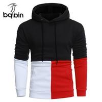 2018 New Fashion Hoodies Brand Men Casual Stitching Sweatshirt Male Hoody Hip Hop Autumn Winter Hoodie