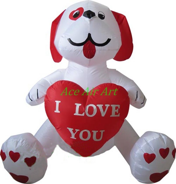 teddy bear valentines day inflatable for decoration inflatable valentine bears with red heart in hand