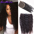 7A Brazilian Virgin Hair With Closure Deep Wave Brazilian Hair With Closure Human Hair Weave Brazilian Curly Hair With Closure