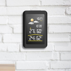 Image 5 - Baldr Wireless Weather Station Thermometer Digital Hygrometer Temperature Sensor Alarm Clock Snooze Forecast  US PLUG