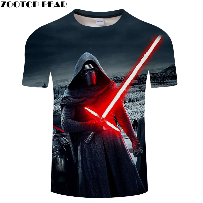 NEW Mask Funny Star Wars Men Shirt 3D Print Fitness Breathable Bodybuilding Tee Quick Dry Male Summer Casual Shirts ZOOTOPBEAR