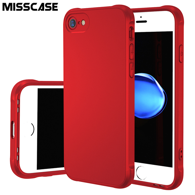 Case for iPhone 6 6S,MISSCASE Sound Switching Matte Metallic Paint TPU Soft Silicone Shockproof Cover Shell for iPhone 6 6S Case
