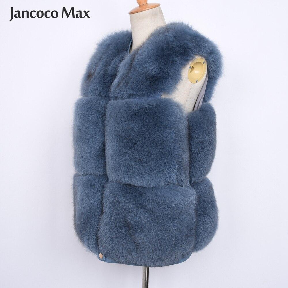 S7500 Fourrure Gilet Cream blue Supérieure Automne De Qualité black Naturel Mode Réel Femmes Nouveau Renard Style Dame Design Hiver 4TwZqzEE