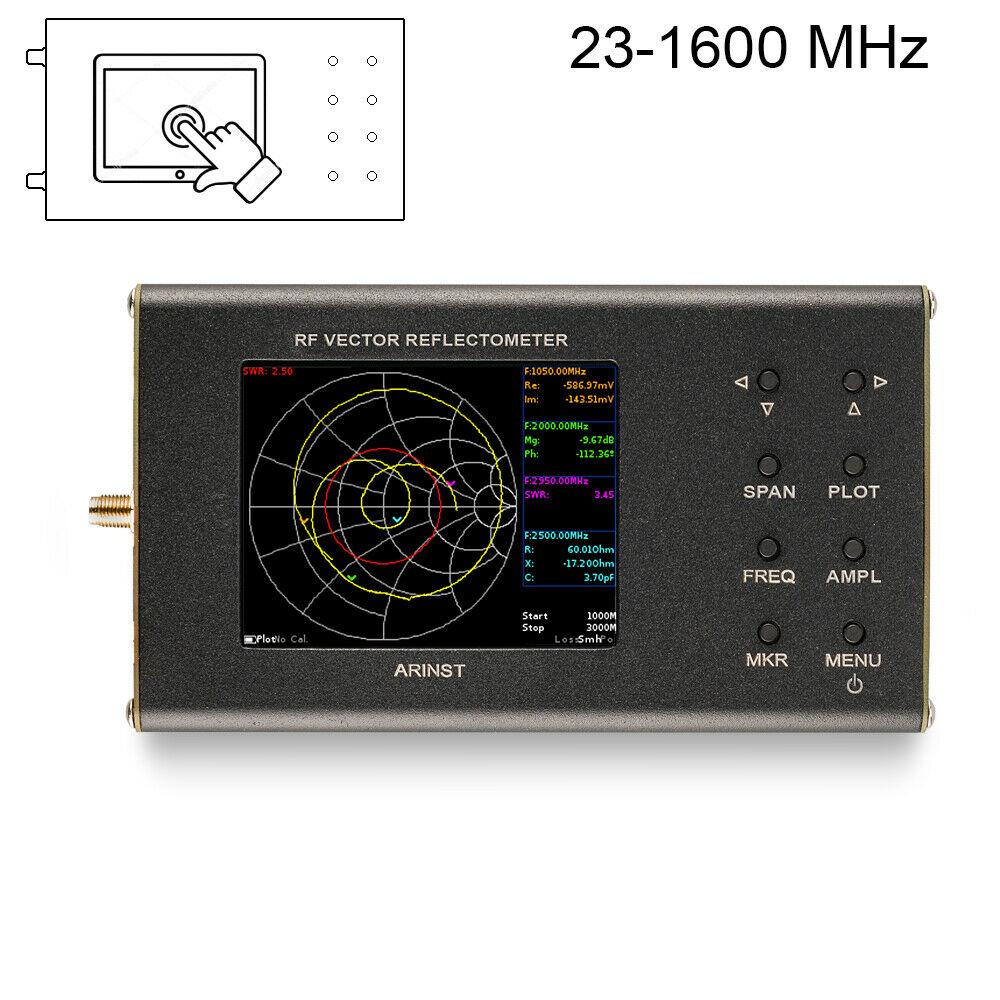 New Portable VNA SWR Vector Network Analyzer Reflectometer Arinst 23-1600 MHz