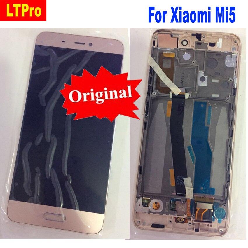 LTPro 100% D'origine Meilleur de Travail LCD Affichage à L'écran Tactile Digitizer Assemblée avec Cadre Pour Xiaomi 5 Mi 5 M5 Mi5 Téléphone Pièces