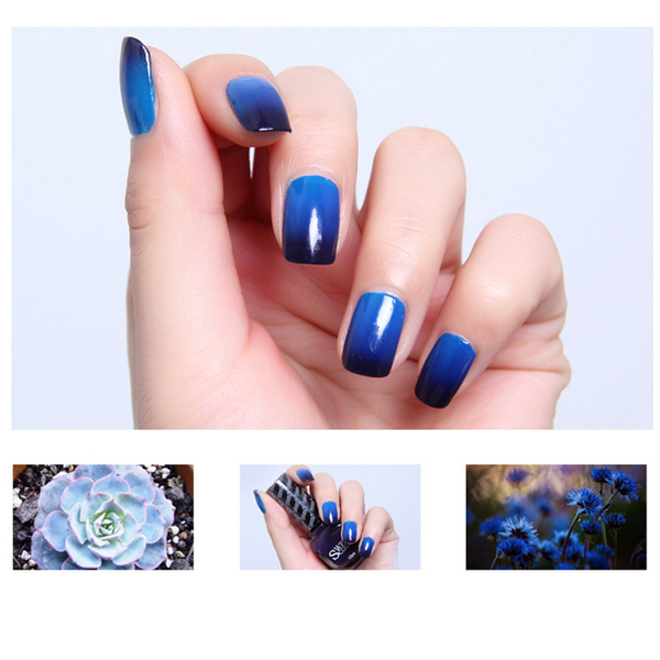 1 Bottle 12ml Thermal Nail Polish Temperature Color Changing Art Purple To Blue 22977 In From Beauty Health On Aliexpress