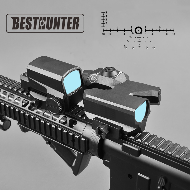 L Brand Dual-Enhanced View Optic Red Dot sight Rifle Scope Magnifier with LCO Red Dot Sight Reflex Sight leupold d evo dual enhanced optic with special reticle magnifier with lco reflex red dot