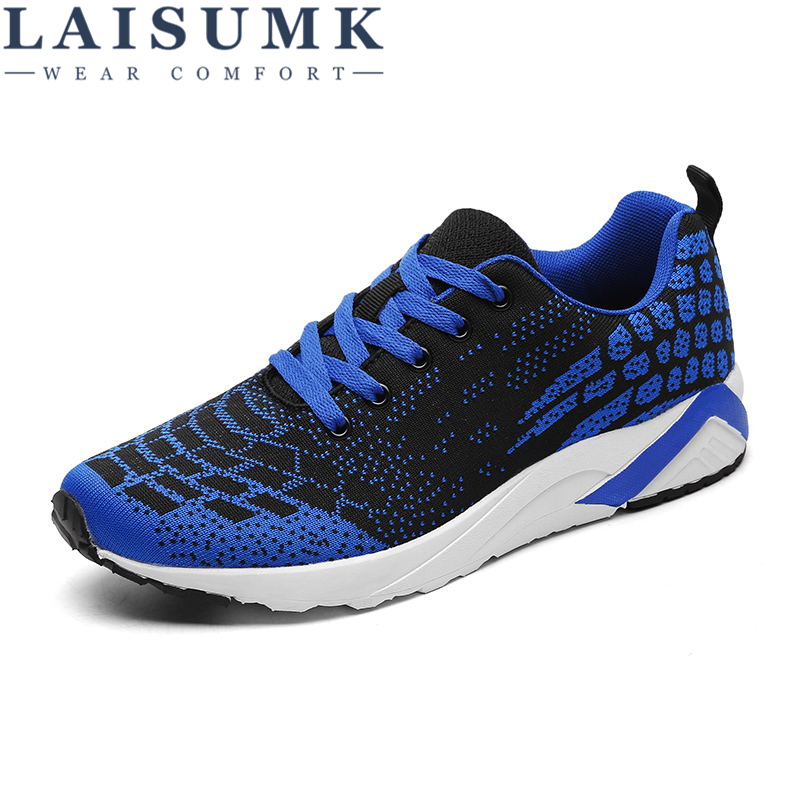 LAISUMK Brand New 2019 Arrival 3 Colors Men Shoes, Fashion Casual Breathable Mesh Shoes Sneakers