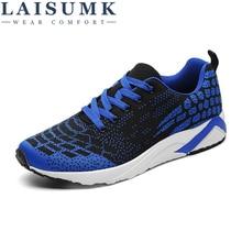 LAISUMK Brand New 2019 Arrival 3 Colors Men Shoes, Fashion Casual Breathable Mesh Shoes Sneakers