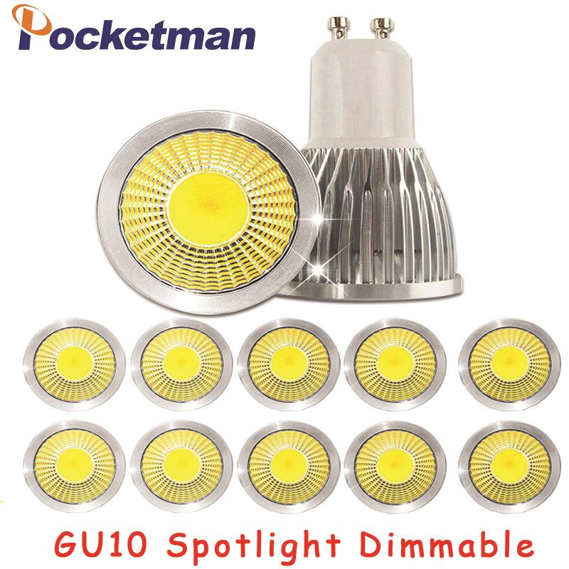 Gu10 Led Dimmable Led Spotlight Bulb Light 15W 10W 7W Gu10 Led Cob Spot Light Lamp Gu10 Led Bulb AC85-265v Lampada free shipping ultra bright gu10 dimmable 9w cree led cob spot down light bulb 85 265v