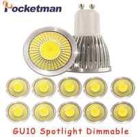 Gu10 Led regulable foco Led bombilla de luz 15W 10W 7W Gu10 foco Led cob lámpara Gu10 bombilla Led AC85-265v Lampada