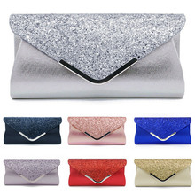 NoEnName 2019 Women's Glitter Shimmer Envelope Ladies Sequins Evening Party Prom Smart Jane