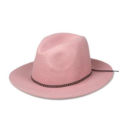 6 шт./лот новые модные женские туфли Для мужчин шерсть autunm зима фетровая шляпа Фетр Панама женская флоппи Дерби шляпа Кепки Головные уборы - Цвет: Khaki