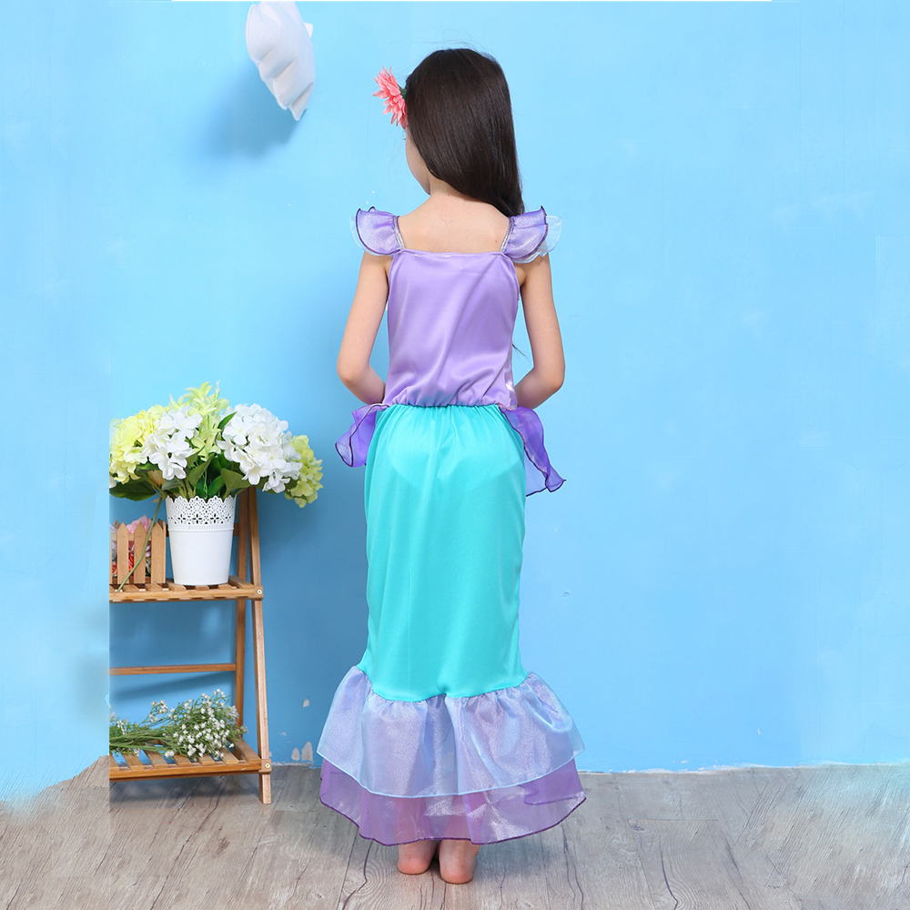 2018 Robes De Sirène Pour Filles Petite Sirène Fantaisie Princesse - Vêtements pour enfants - Photo 3