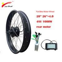 48V 1000W Hub Motor Rear Fat Tire 2026 4.0 Brushless Gear Hub Motor Electric bike kit 48v 1000W Controller LCD Ebike Parts