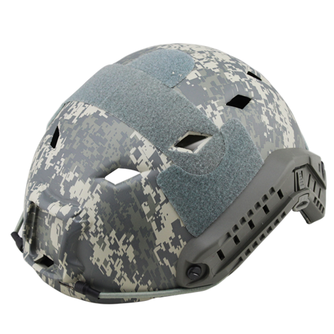 Surwish Camouflage Tactics Protective Helmet for FAST Pore-rhomb Helmet Outdoor Activity - AT nfstrike steel wire protective fast helmet suit for airsoft military tactics helmet for nerf accessories games outdoor activity