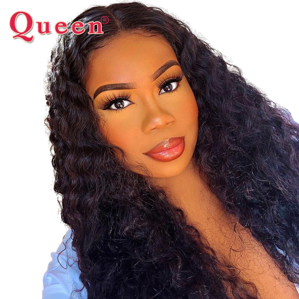 Brazilian 13 4 Deep Wave Lace Front Human Hair Wigs Remy Hair For Women 150 Density