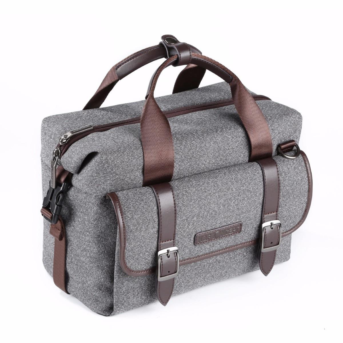 K & F concepto de un solo hombro Cámara bolsa impermeable a prueba de golpes viaje bolsas de fotos Paquete de ocio para Canon Nikon DSLR