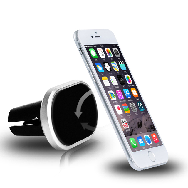 Universal Magnetic Car Phone Holder Air Vent Mount Mobile Phone Support For iPhone6 7 xiaomi huawei telefon car-styling stand