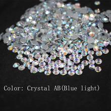 Crystal AB(blue) Large Package  Glass DMC Machine Cut Hotfix Rhinestone Hot Fix Iron On Garment Sewing Stone