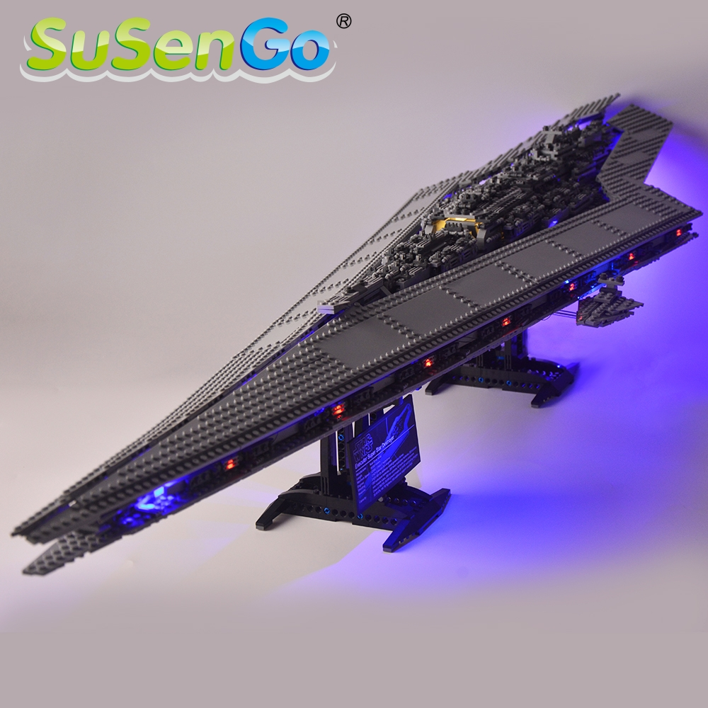 SuSenGo Led Light Kit For Super Star Destroyer Compatible With 10221 And 05028  Light Set (NOT Include The model)-in Blocks from Toys & Hobbies    1