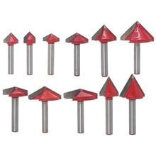 60 90 120 150 graden V-type Frees 6mm Graveren V Groove Bit Tungsten Staal CNC Router graveren Houtbewerking Cutter