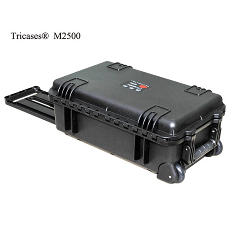 Hot sale!M2500 Tricases factory new style waterproof PP hard tool cases with pre-cut cube foam best price mgehr1212 2 slot cutter external grooving tool holder turning tool no insert hot sale brand new