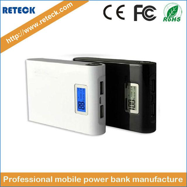 Banco do poder 12000 mAh 2 USB backup Powerbank LCD Portátil carga Universal 18650 bateria externa para o telefone Móvel Frete grátis