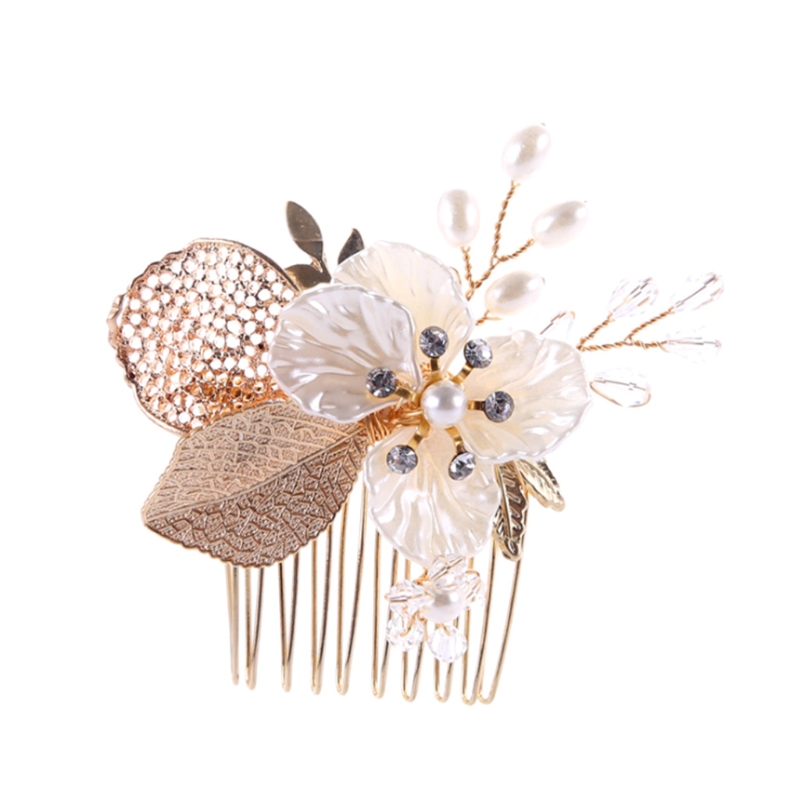Bride Comb Wedding Leaf Flower Bridal Hairpins