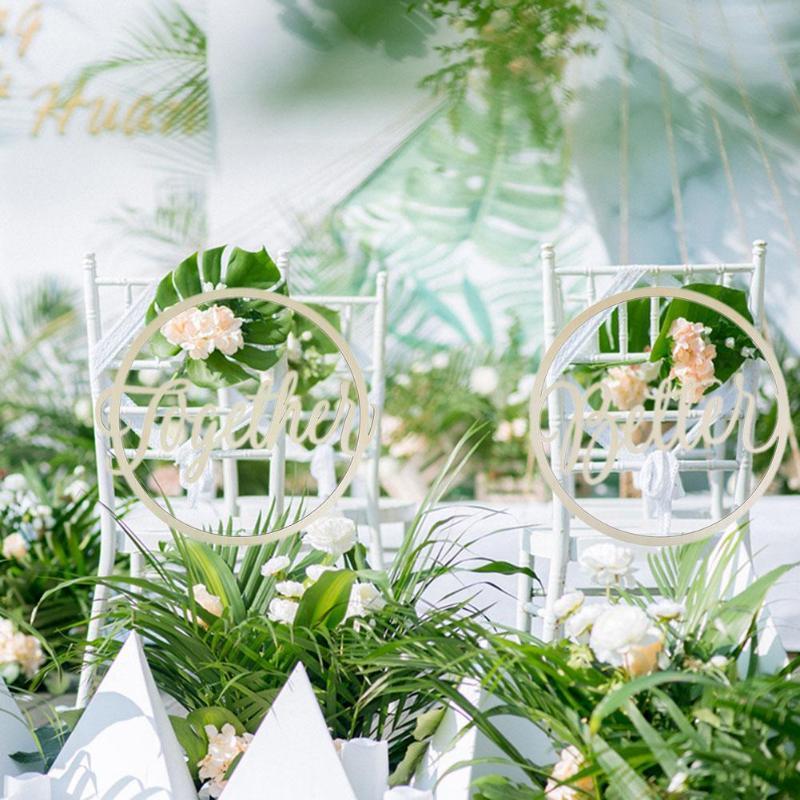 Невеста жених стул деревянные знаки реквизит для фотосессии в деревенском стиле свадебные стул кулон деревянный декор висят знаки комплек...