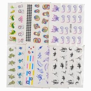 Image 2 - 50 arkuszy mieszane style Watermark BOW Cartoon naklejki Nail Art porady transferu wody naklejki uroda tymczasowe tatuaże narzędzia