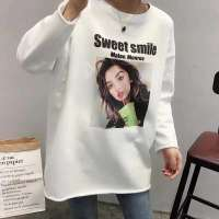 Ulzzang Street Style Character Graphics Tops Tshirt Women Spring Harajuku Sweet Style Loose Slim White T Shirt Women Clothes