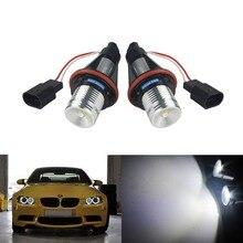 ANGRONG 2X Angel Eyes LED Marker Xenon Headlight Bulb For BMW E39 E60 E63 E64 E65 E66 E83 X3 E53 X5 secondary air pump for bmw e46 e60 e63 e64 e83 x3 e53 x5 m5 m6 m54 11727571589
