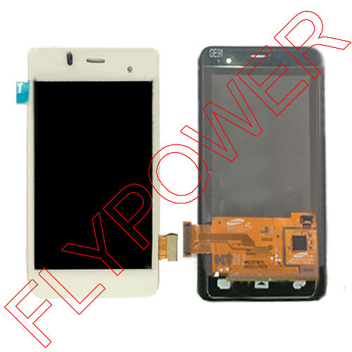 White LCD Display +digitizer touch Screen Assemblely for Alcatel One Touch Star 6010 OT6010 Full lcd +touch By free shipping