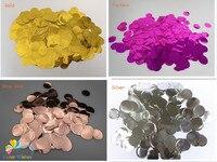 1inch=2.5cm 1kg/lot Fantastic Metallic PVC Confetti Circles Filled Balloons Graduation Wedding Party Decorations