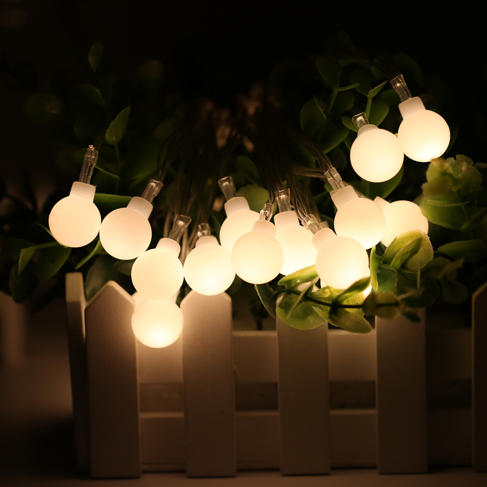 Globe Festoon Light Bulbs Battery Operated Christmas Fairy String Lights Indoor for Home Wedding Holiday Xmas Tree Decorations globe fairy string bulb lights for indoor outdoor wedding christmas xmas thanksgiving party events home roof decor colorful