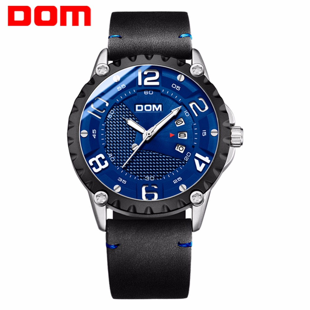 DOM Watch Men Luxury Sport Quartz wristwatch clock Mens Watches Leather Business Waterproof watch Relogio Masculino 2020