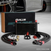 10 Row AN 10 Universal Engine Transmission Oil Cooler Filter Relocation Kit