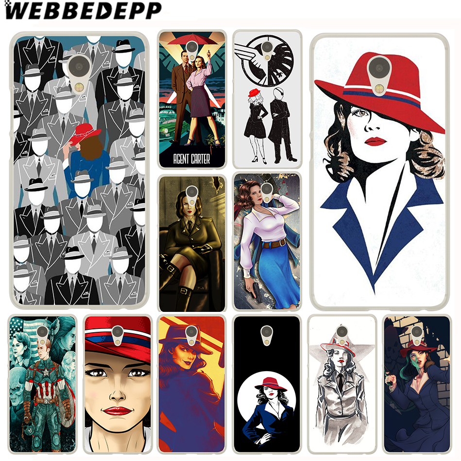 WEBBEDEPP Agent Carter Superheroes Case for Meizu M6 M5 M5C M3 M2 Note M3s mini M5S U10 U20 Pro 6 7 Plus