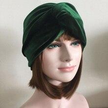 Musim Gugur Musim Dingin Wanita Ikat Kepala Perempuan Jalanan Tebal Beludru  Elastis Rambut Tali Muslim Sorban Rambut Aksesori Me. 2ddbbe28bc
