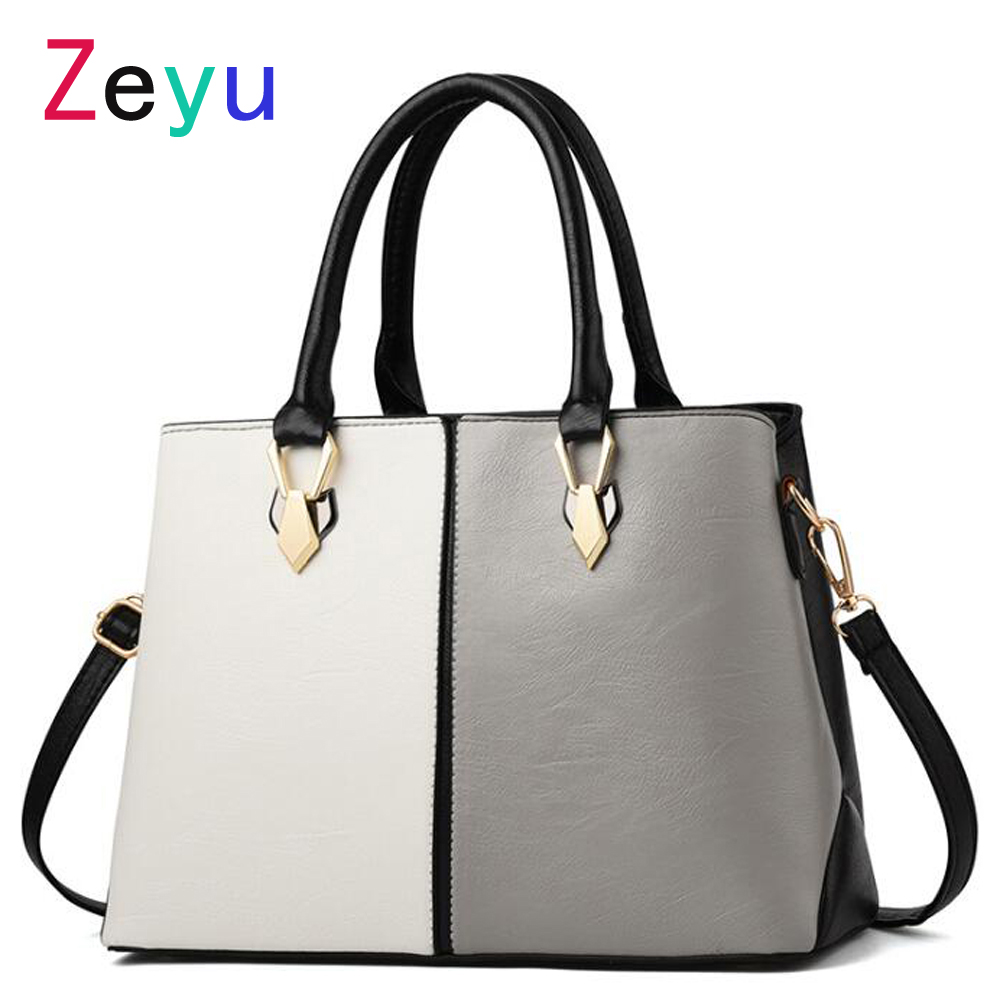 купить Hot Simple Design Patchwork Color Fashion Women Handbags Shoulder Bags Genuine Leather Bags Messenger Bags недорого