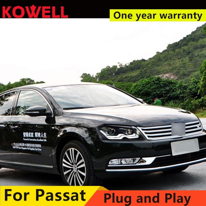 KOWELL Estilo Do Carro Para VW Passat Magotan 2012 2016 LED faróis DRL frente Lente Bi Xenon Duplo Feixe KIT HID - 4