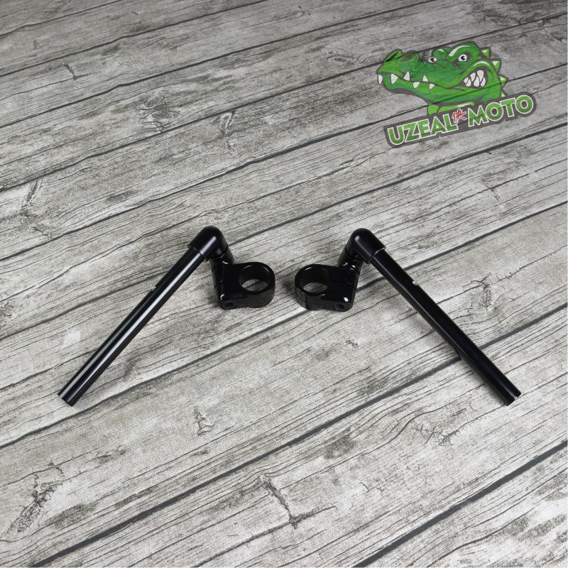 35mm retro motorcycle universal adjustment aluminum alloy detached handlebar split handlebar Cafe Racer clip on handlebar 22