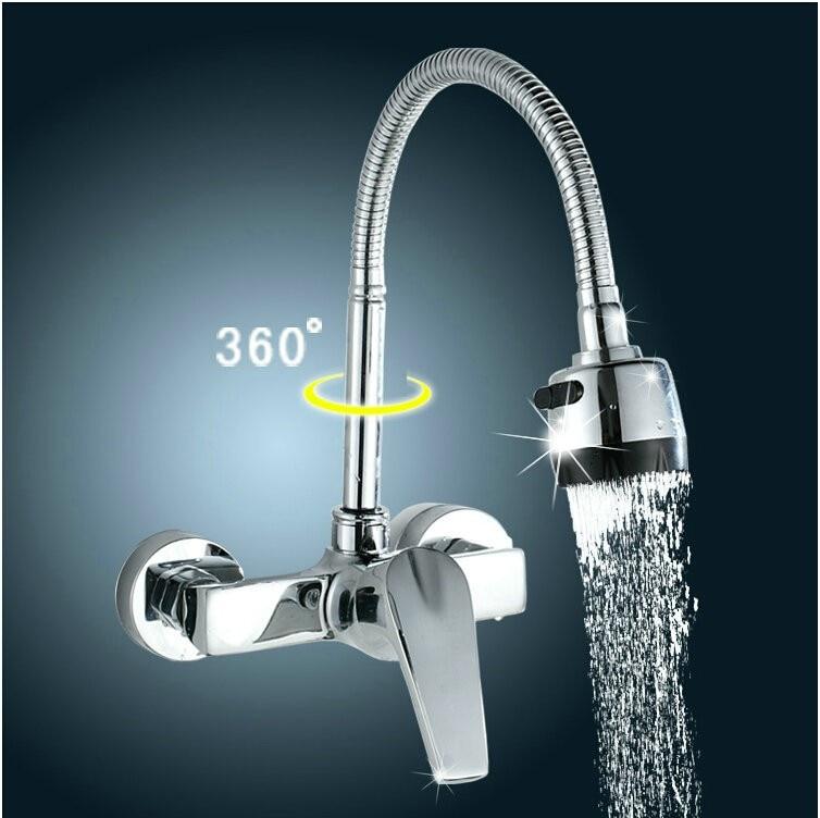 Spedizione gratuita in ottone cromato rubinetti per lavello da cucina rubinetto miscelatore a