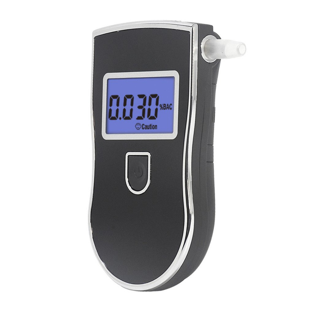 2017 Professional Automobile Digital Breath Alcohol Tester LCD Display Breathalyzer AT818 +5 pcs Mouth Pieces Hot