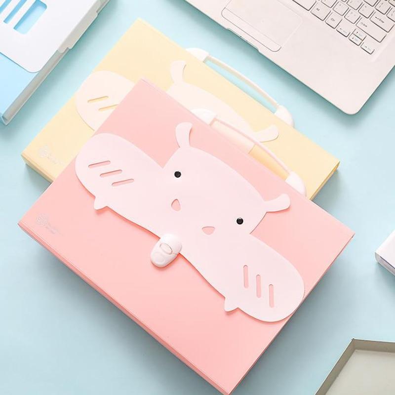 1 Pcs Kawaii A4 Hippo Robot Shape Document Bags Organizer File Folder Expanding Wallet Paper Receipt Storage Bag Stationery1 Pcs Kawaii A4 Hippo Robot Shape Document Bags Organizer File Folder Expanding Wallet Paper Receipt Storage Bag Stationery
